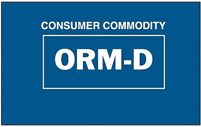 Tape Logic Consumer Commodity ORM-D Shipping Label, 1 3/8