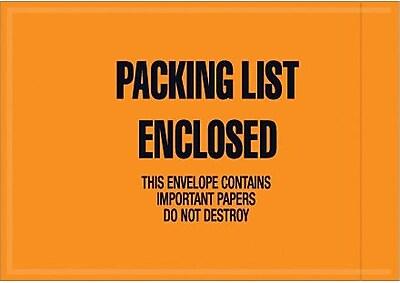 Staples Packing List Envelope, 4 1/2