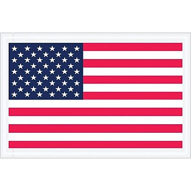 Staples Packing List Envelope, 5 1/4in. x 8in. - Full Face, U.S.A. Flag, 1000/Case