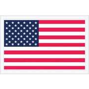 "Staples Packing List Envelope, 5 1/4"" x 8"" - Full Face, U.S.A. Flag, 1000/Case"