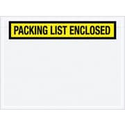"Staples Packing List Envelopes, Yellow Panel Face, ""Packing List Enclosed"""