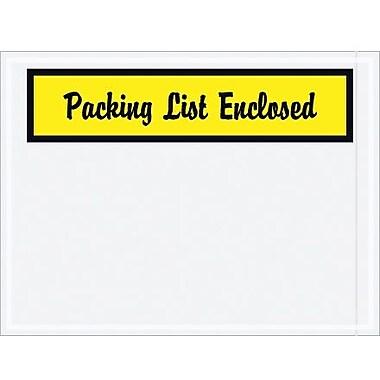 Staples Packing List Envelope-Script, 4 1/2