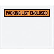 "Staples Packing List Envelopes, Orange Panel Face, ""Packing List Enclosed"""