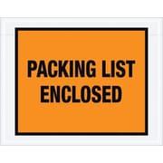 """Staples Packing List Envelope, 7"""" x 5 1/2"""" - Orange Full Face, """"Packing List Enclosed"""", 1000/Case"""