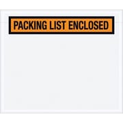 "Packing List Envelope, 6 1/2"" x 5"" - Orange Panel Face, ""Packing List Enclosed"", 1000/Case"