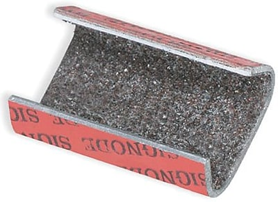 Staples Sandpaper Open/Snap On Metal Poly Strapping Seal, 1/2