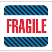 "Tape Logic® Labels, ""Fragile"", 4"" x 4"", Multiple, 500/Roll"