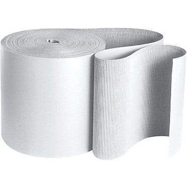 Staples White Singleface Corrugated Rolls, 250'