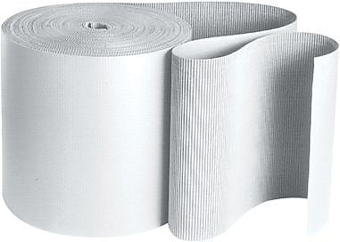 Staples White Singleface Corrugated Roll, 36