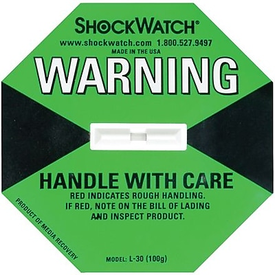 ShockWatch® Indicator, 100G