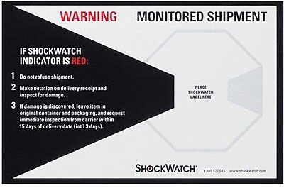 ShockWatch® Companion Label