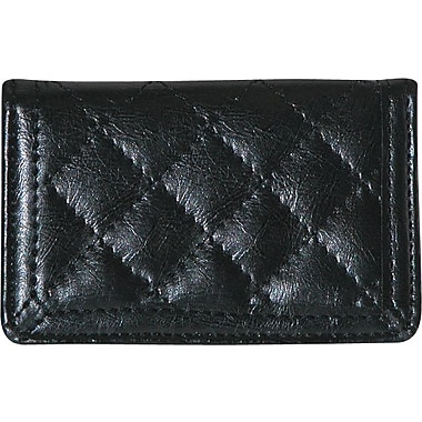 Buxton Quilted Card Case, Black