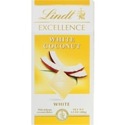 Lindt Excellence Chocolate Bars, White Chocolate Coconut, 3.5 oz., 12 Bars/Box