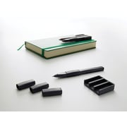 Moleskine Writing Accessories Set, 3 Slip-on grips + Pen holder, Black