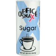 Office Snax® Sugar Canister, 20 oz, Regular, 24/Carton (00019CT)