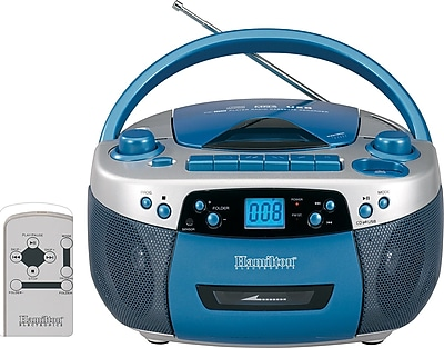Hamilton™ Audio Visual Boom Box with USB Port, CD/MP3 Player Cassette Recorder Radio Tuner