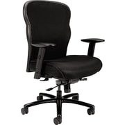 HON Wave Mesh Big and Tall Executive Chair, Knee-Tilt, Adjustable Arms, Black Fabric Seat NEXT2018 NEXT2Day