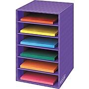 """Fellowes 6-Shelf Storage Organizer, 18""""H x 12""""W x 13 1/4""""D, Purple"""