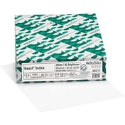 "Exact Index, 8.5"" x 11"",110 lb., Smooth Finish, White, 250 Sheets/Pack (40411)"