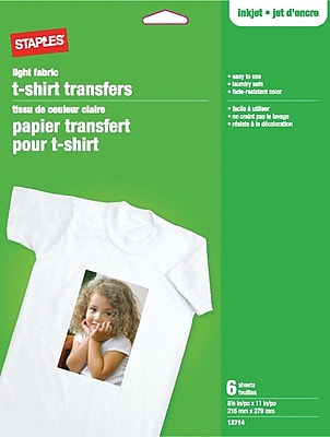 Transferts pour t-shirts thermocollants