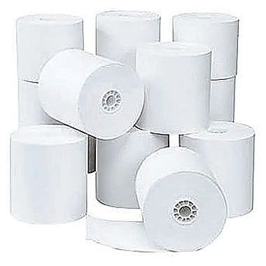 Staples® Thermal Paper Rolls, 3-1/8