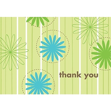 Great Papers® Daisy Stripes Thank You Note Cards, 24 count