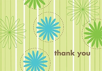 Great Papers® Daisy Stripes Thank You Note Cards, 24/Pack