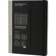 "Moleskine Pro Collection Professional Notebook, Extra Large, Black, 7-1/2"" x 10"""