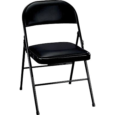 Padded Metal Folding Chair Black