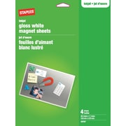 Staples® Magnet Sheets, Gloss White, 4-Sheets