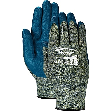 Ansell® HyFlex® Cut Resistant Gloves, Kevlar Foam Nitrile, Knit-Wrist Cuff, Large Size, 12 Pairs