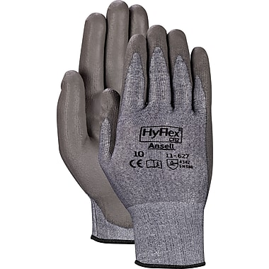 Ansell® HyFlex® CR2 Gloves, Polyurethane Palm, Knit-Wrist Cuff, Large