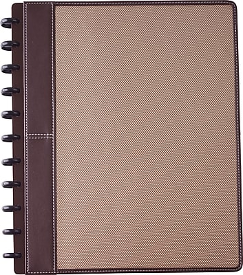 Staples® Arc Customizable Woven Preassembled Notebook, Letter Size, Brown, 60 Sheets