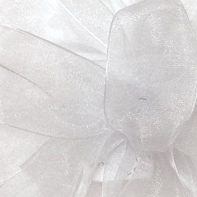 "Shamrock Berwick/Offray White Simply Sheer Asiana (Mono-edge) Ribbon 1.5"" x 100'"