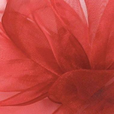 Shamrock Berwick/Offray Red Simply Sheer Asiana (Mono-edge) Ribbon 1.5