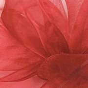"""Shamrock Berwick/Offray Red Simply Sheer Asiana (Mono-edge) Ribbon 7/8"""" x 100'"""