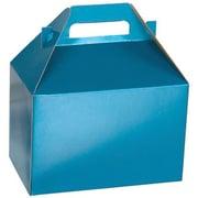 "Shamrock Board 5.25""H x 4.88""W x 8""L Shimmer Frost Gable Box, Peacock Blue, 100/Case"