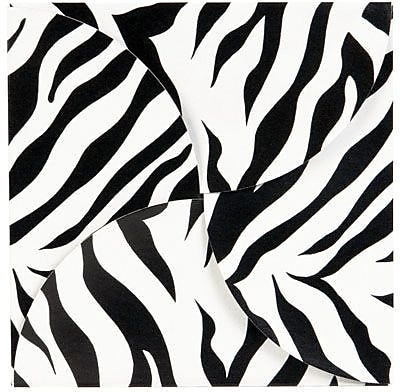 Shamrock Gift Card Folder and Holder, Zebra Stripes, 6