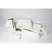 "Boxit White Krome Jewel Box, 8"" x 5 1/2"" x 1 1/4''"