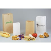 "Shamrock Kraft Paper 13.93""H x 7.13""W x 4.38""D SOS Shopping Bags, Kraft, 500/Case"
