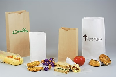 "Shamrock SOS Bag, Natural Kraft, 7 1/8"" x 4 3/8"" x 13 15/16"", 500/Case"