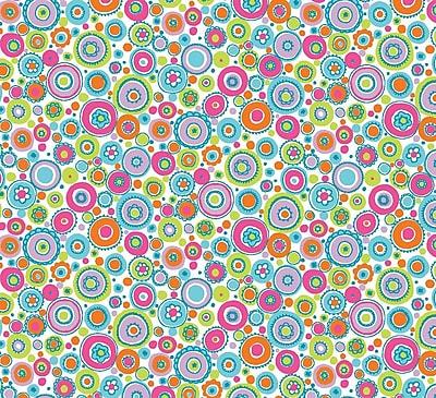 Shamrock Happy Dots Gift Wrap, Half Ream Roll