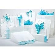 "Bonita 13"" x 6"" x 15.75"" White Kraft Paper Shopping Bag"