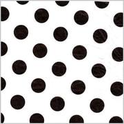 Shamrock Printed Tissue, Polka Dot Black