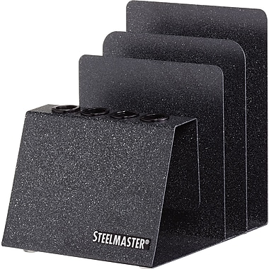 MMF SteelMaster® Soho Collection Pen and Note Holder, Granite