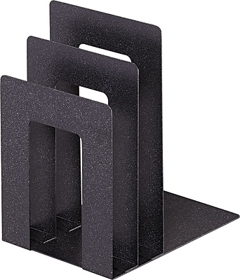 STEELMASTER® Deluxe Bookend Sorter, Square Desgin, 2 Files, Granite (241873SA3)