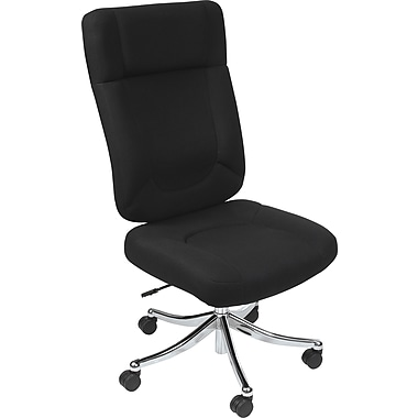Balt Champ Big & Tall Fabric Conference Office Chair, Armless, Black (34730)