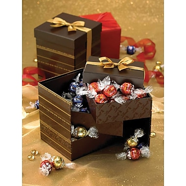 Lindt LINDOR Chocolate Truffles Tri-Level Gift Box, Assorted, 45 Truffles/Box