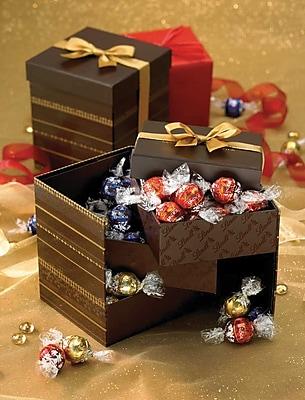 Lindt® LINDOR Truffles Tri-Level Gift Box, 45 Assorted Truffles