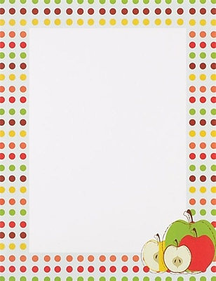 Great Papers® Apples Letterhead, 25/Pack